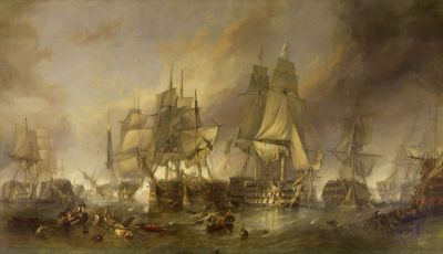 Battle of Trafalgar by WC Stanfield